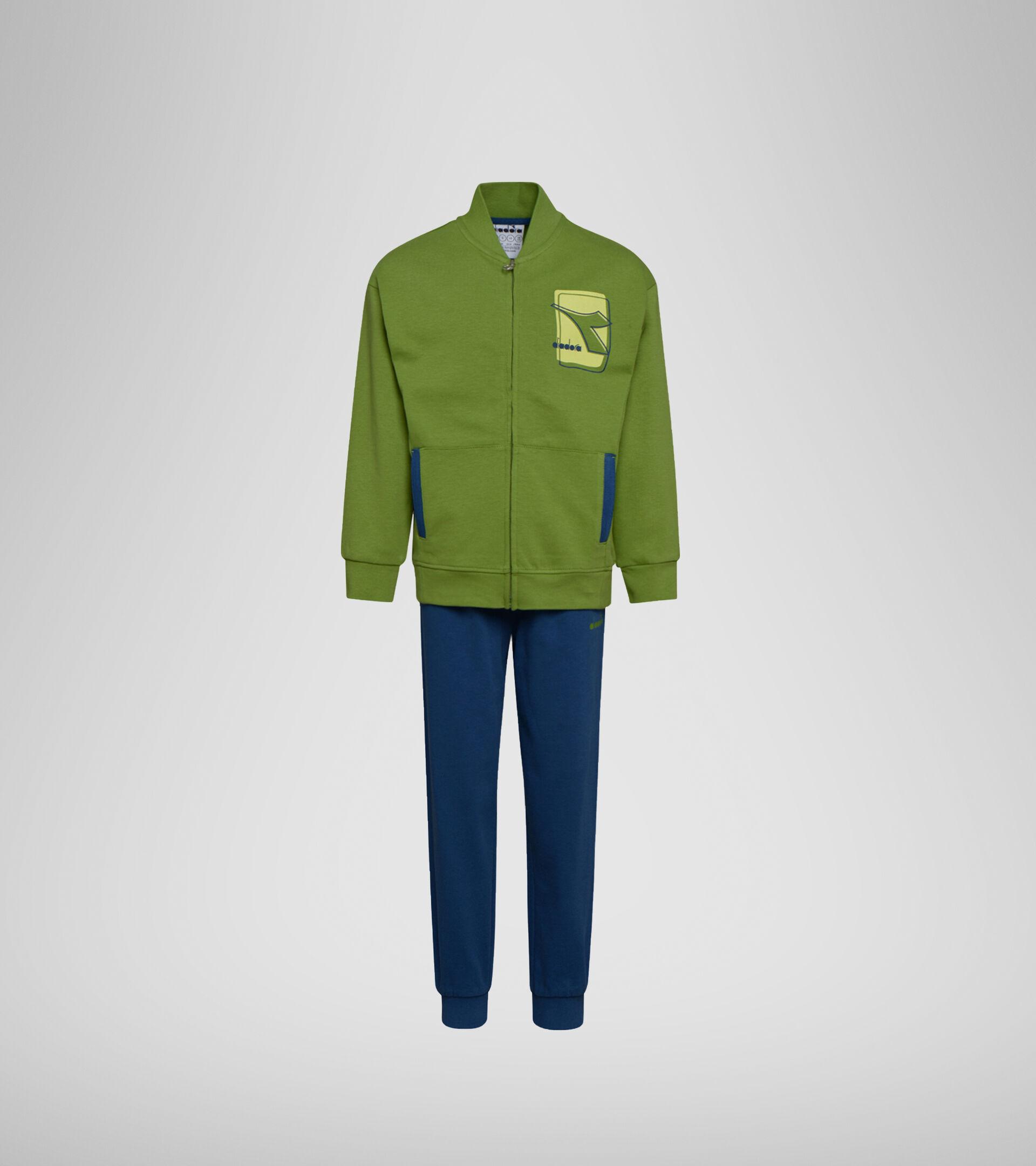 Apparel Sport BAMBINO JU. TRACKSUIT ELEMENTS GREEN  HILL Diadora