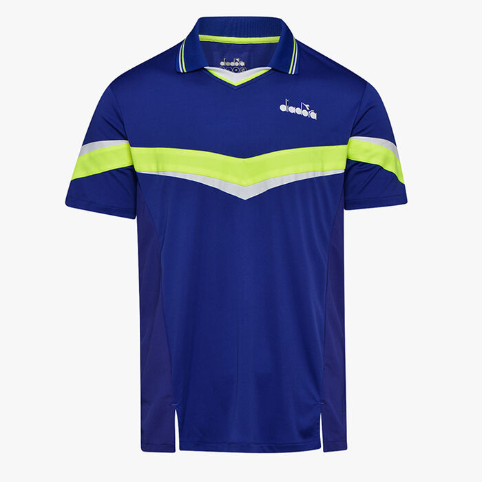 POLO SS, BLUE REGISTA, large