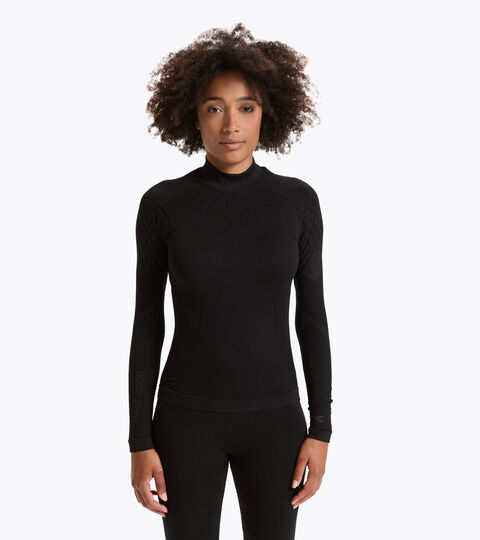 Long-sleeved training t-shirt - Women L. TURTLE NECK ACT BLACK - Diadora