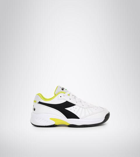 Zapatillas de tenis para terrenos duros y tierra batida - Unisex niños S. CHALLENGE 3 SL JR BLCO/NGR/MANANTIALES DE SULFUR - Diadora