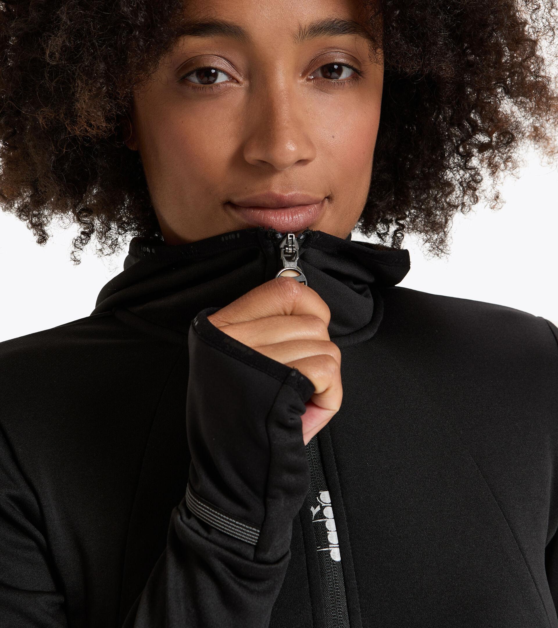 Winter-Laufsweater - Damen L. HD WARM UP WINTER SWEAT SCHWARZ - Diadora