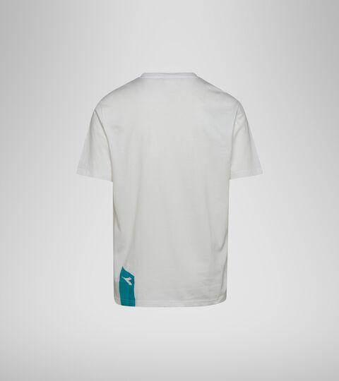 T-shirt - Unisexe T-SHIRT SS ICON BLANC LAIT/VERT EMERAUDE - Diadora
