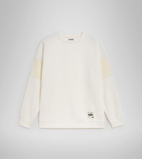 Sweat-shirt ras-du-cou - Femme L. SWEATSHIRT CREW URBANITY BLANCHE - Diadora