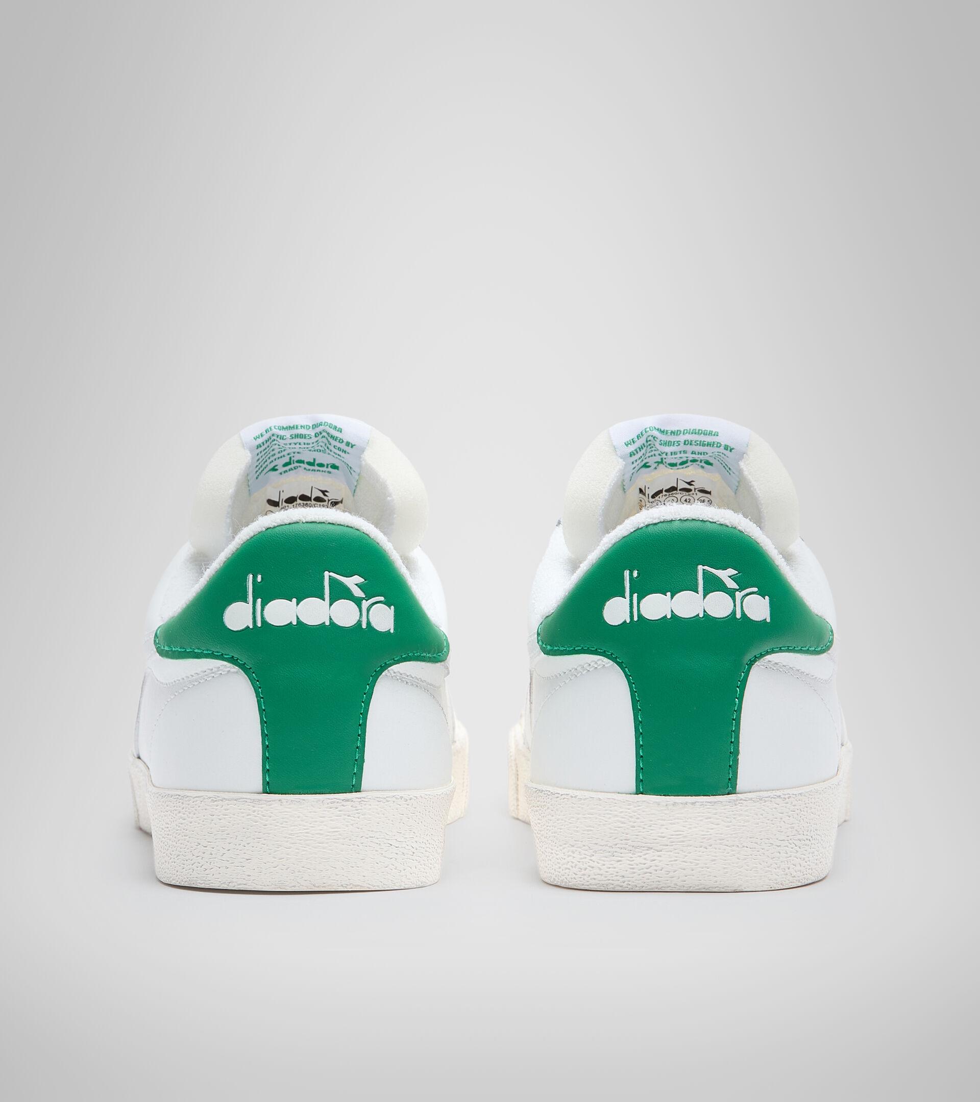 Zapatilla deportiva - Unisex MELODY LEATHER DIRTY BLANCO/VERDE GOMINOLA - Diadora