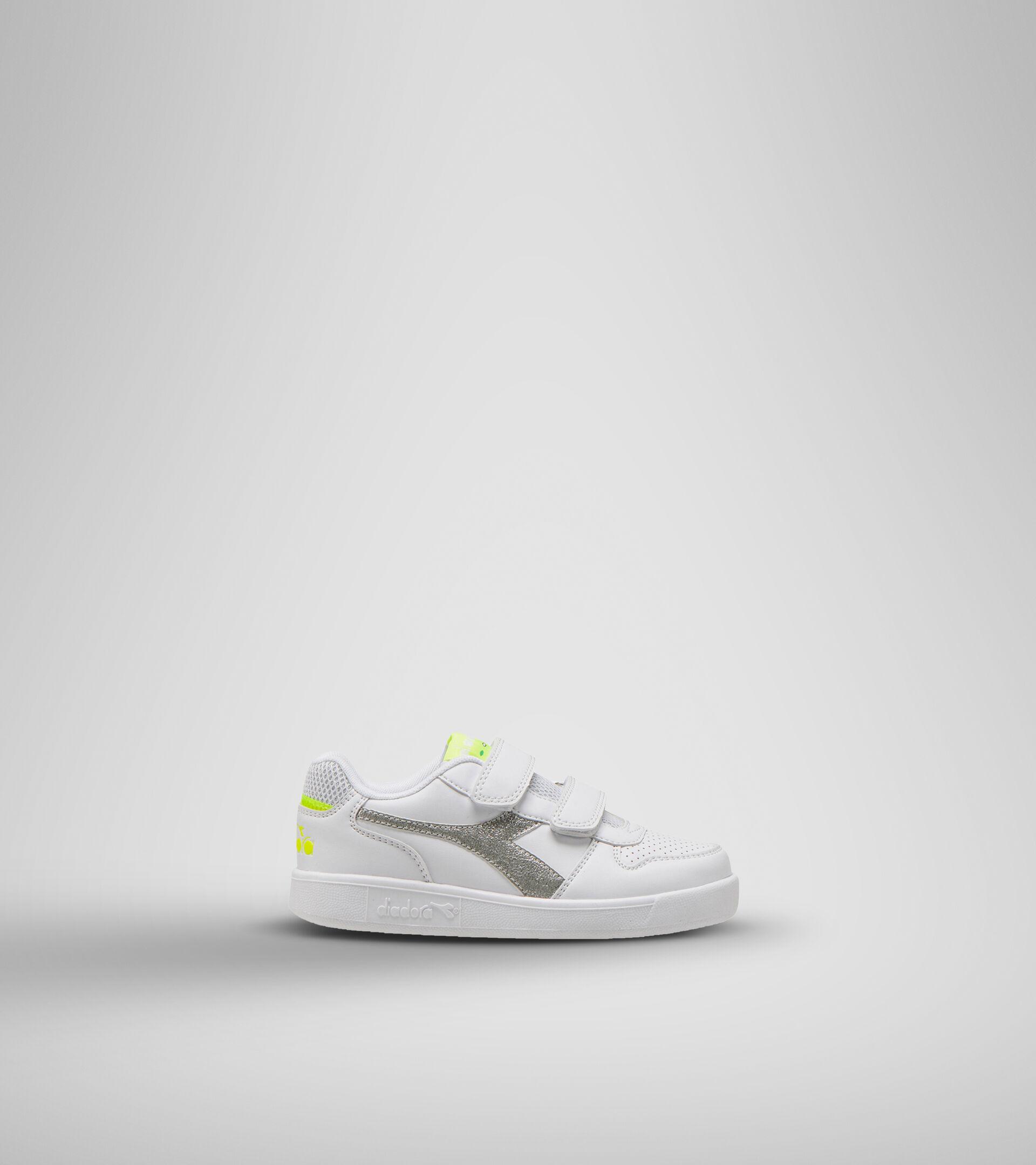 Footwear Sport BAMBINO PLAYGROUND PS GIRL WHITE/YELLOW FLUO. Diadora
