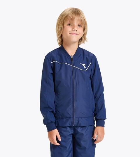 Tennis jacket - Junior J. JACKET COURT SALTIRE NAVY - Diadora