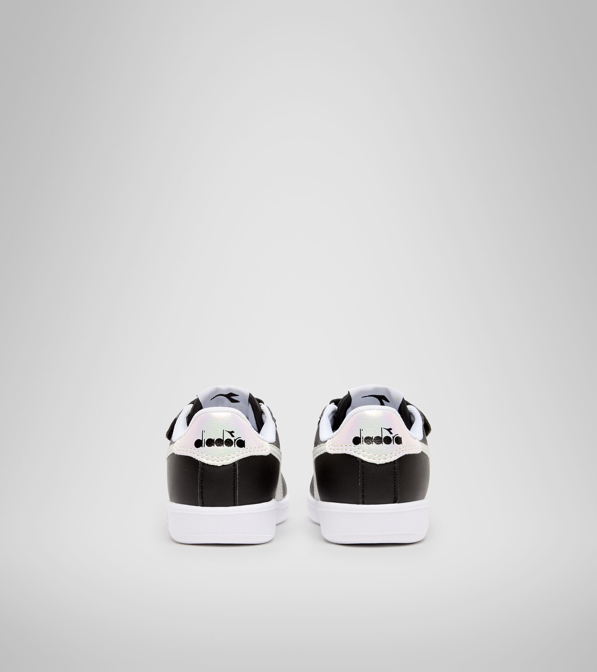 Footwear Sport BAMBINO GAME P TD GIRL BLACK /WHITE Diadora