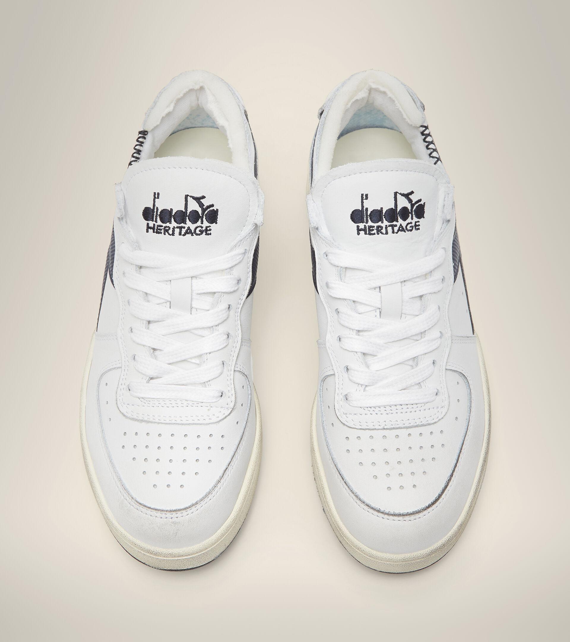 Footwear Heritage UNISEX MI BASKET ROW CUT BLANCO/NEGRO IRIS Diadora