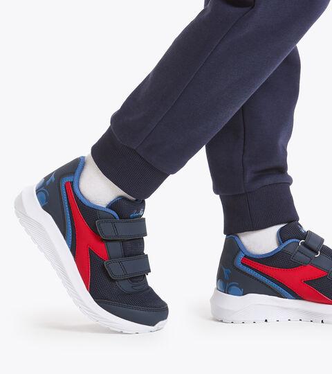 Chaussures de running - Unisexe Enfant FALCON JR V NOIR IRIS/BLEU FEDERAL - Diadora