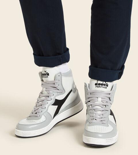 Heritage-Sneaker - Unisex  MI BASKET USED WEISS/HOCHHAUS/SCHWARZ - Diadora