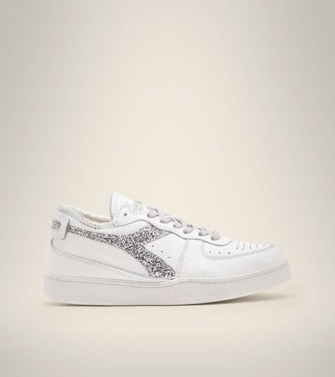 Footwear Heritage DONNA MI BASKET ROW CUT ANDROMEDA WN BIANCO/ARGENTO Diadora