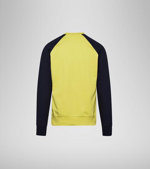 Apparel Sportswear UOMO SWEATSHIRT CREW SPECTRA CLASSIC NAVY/YELLOW Diadora