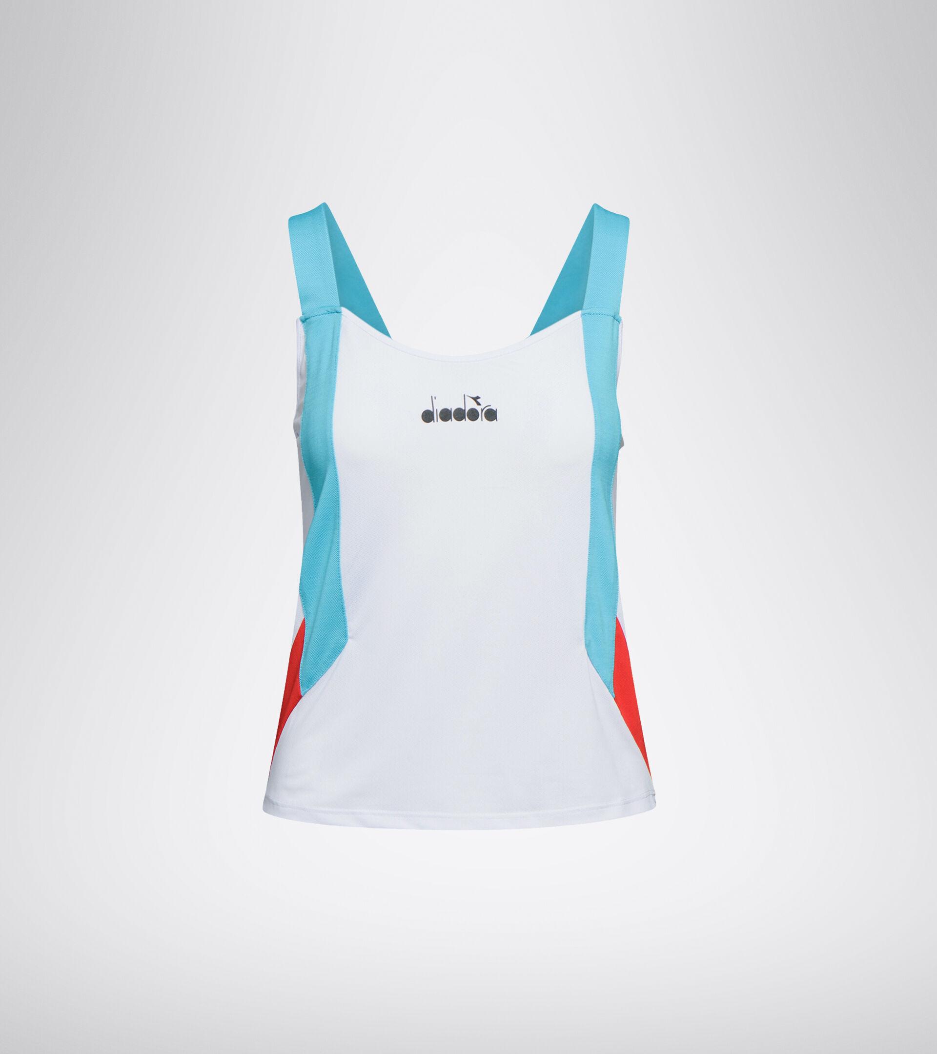 Camiseta sin mangas de tenis - Mujer L. TANK BLANCO VIVO - Diadora