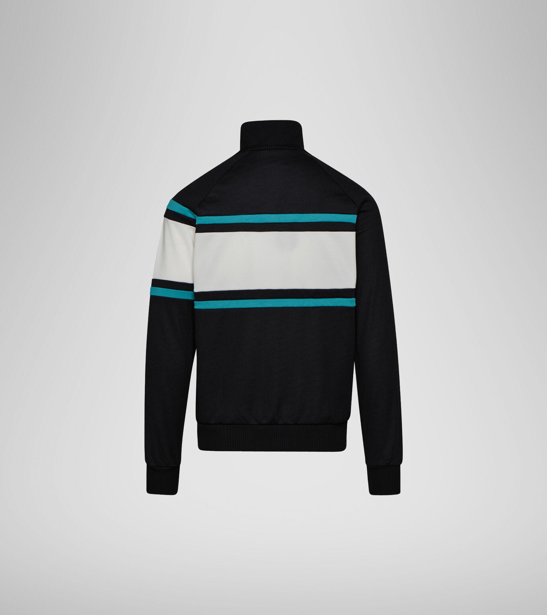 Apparel Sportswear UOMO JACKET 80S NEGRO/VERDE VIRIDIAN/BLCO LECH Diadora
