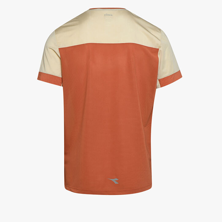 SUPER LIGHT SS T-SHIRT, ALMOND MILK/MECCA ORANGE, large