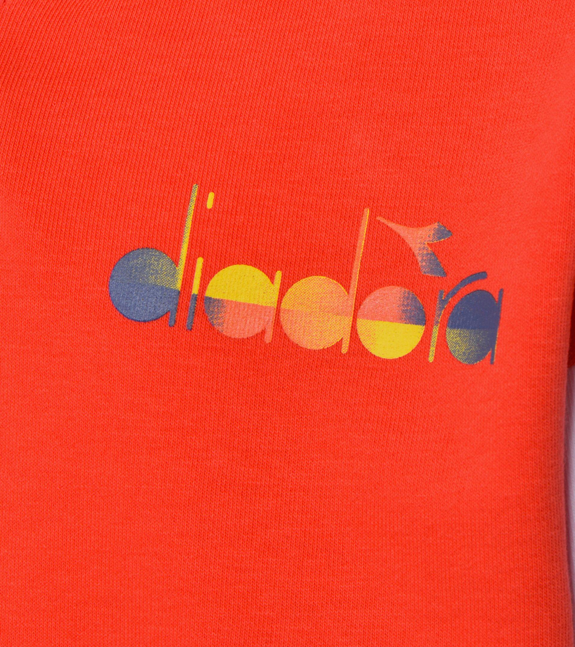 Suadera con capucha - Niños JB. HOODIE DIADORA CLUB ROJO AMAPOLA - Diadora