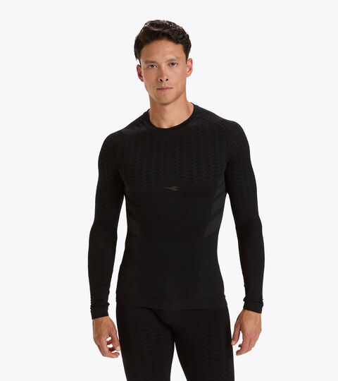 Long-sleeved training t-shirt - Men LS T-SHIRT ACT BLACK - Diadora