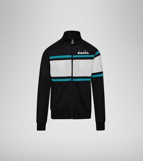 Sportswear jacket - Unisex JACKET 80S BLACK/ACQUA GREEN/WHITE MILK - Diadora