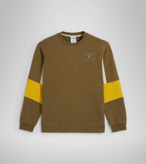 Crew-neck sweatshirt - Men SWEATSHIRT CREW SHIELD OLIVE GREEN - Diadora