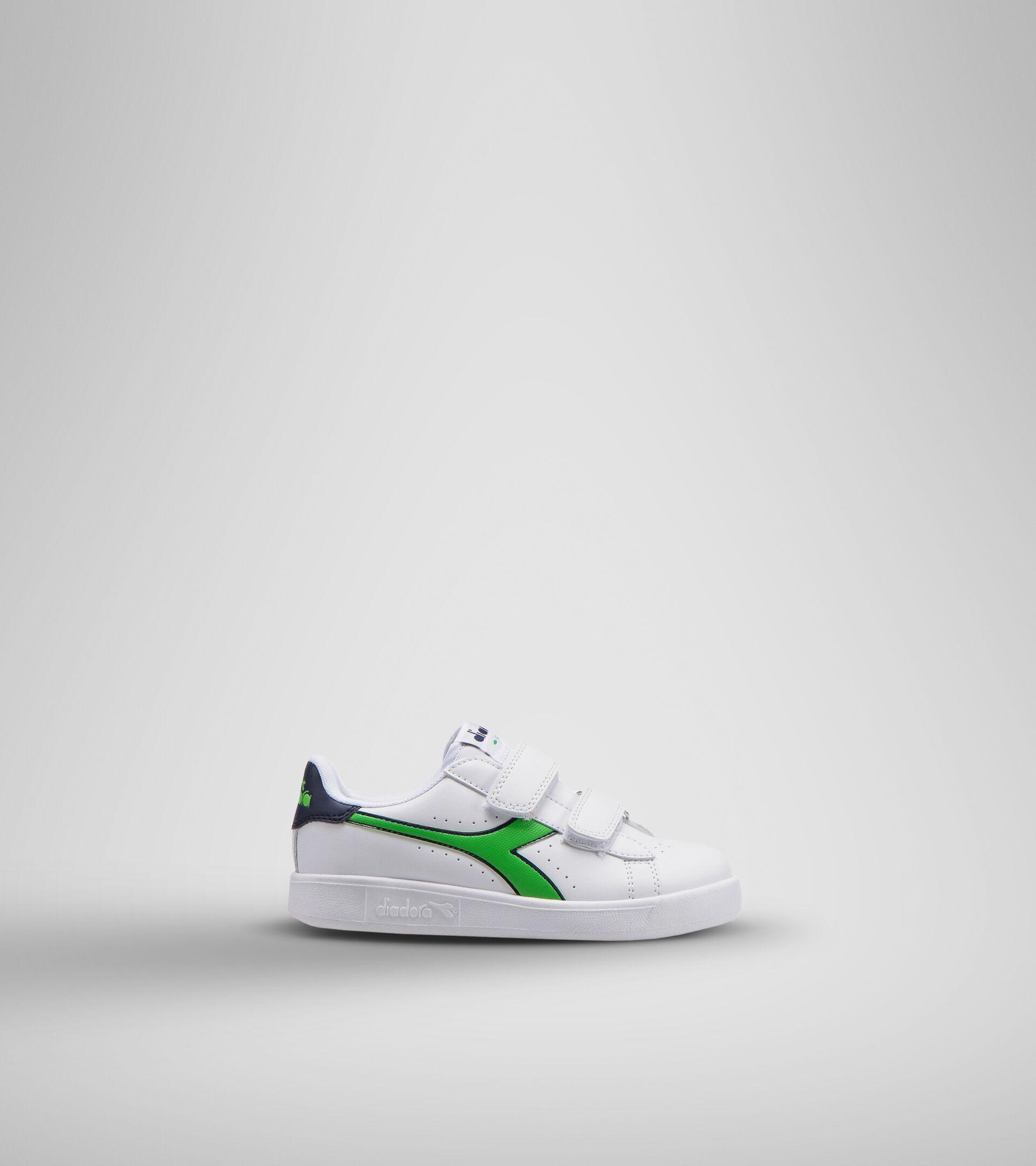 Footwear Sport BAMBINO GAME P PS WHITE/BLACK IRIS/CLASSIC GREEN Diadora