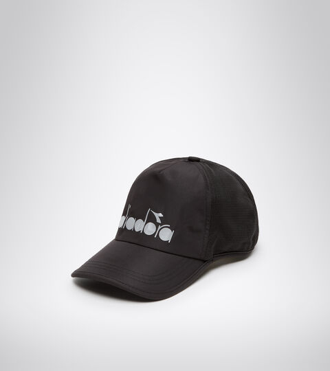 Kappe mit Gummi - Unisex RUNNING CAP PIRAT SCHWARZ - Diadora