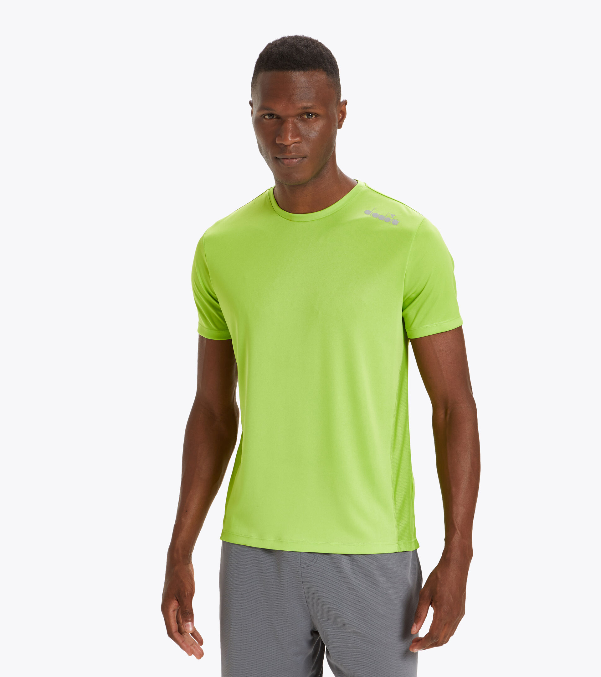 T-shirt da running - Uomo SS CORE TEE VERDE LIME (70280) - Diadora