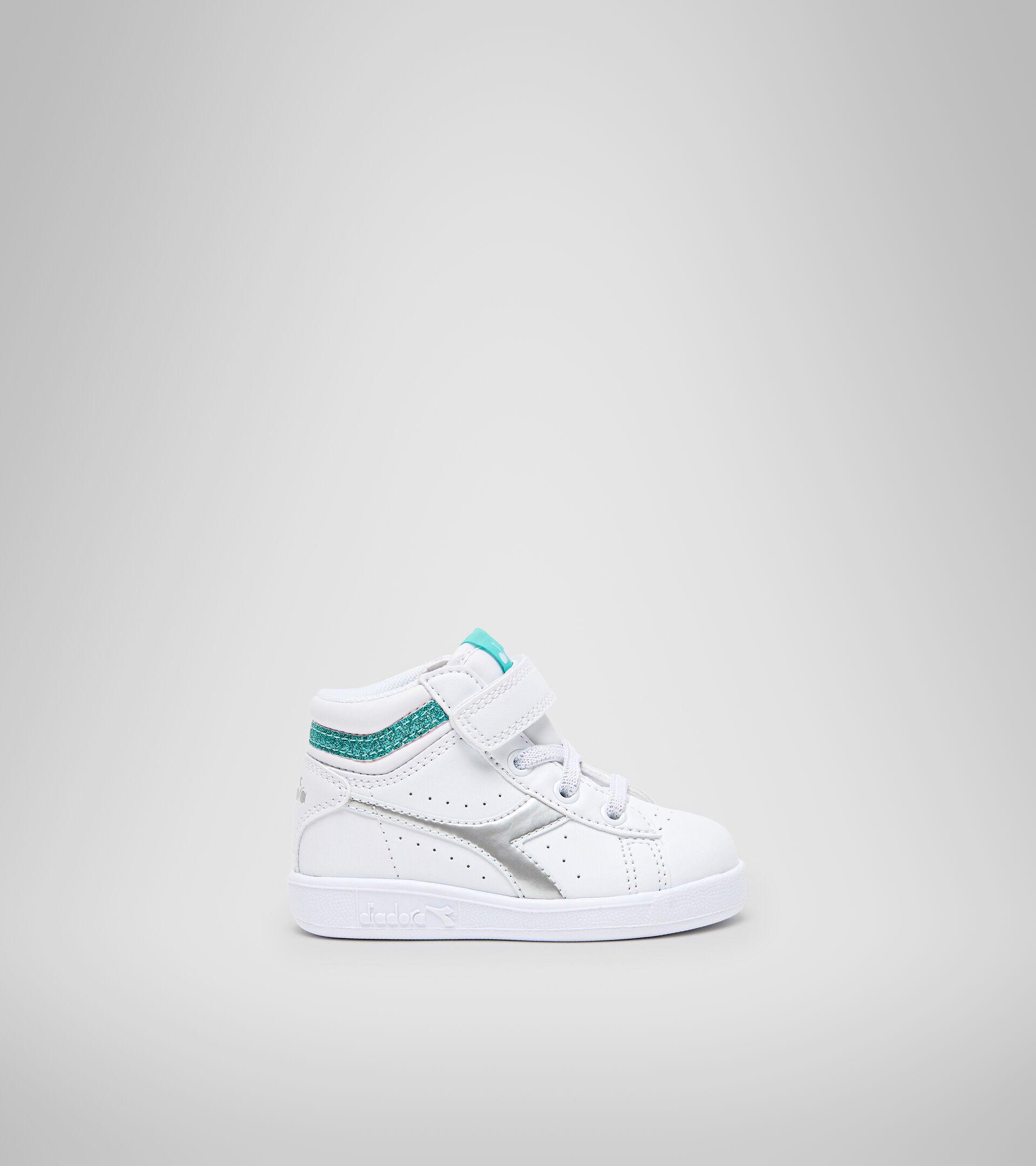 Footwear Sport BAMBINO GAME P HIGH GIRL TD WHITE/BLUE TURQUOISE Diadora