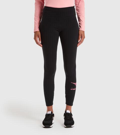Sports trousers - Women L.LEGGINGS LUSH BLACK - Diadora