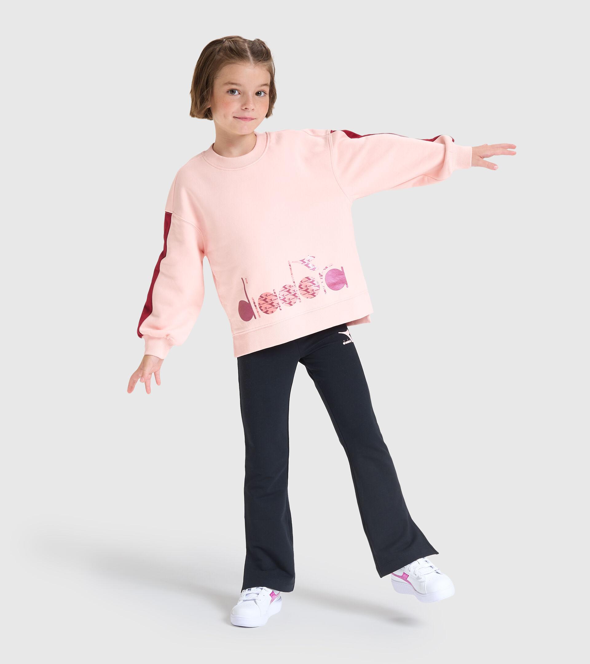 Sweater mit Rundhalsausschnitt - Kinder JG.SWEATSHIRT CREW TWINKLE VERSCHLEIERT ROSA - Diadora
