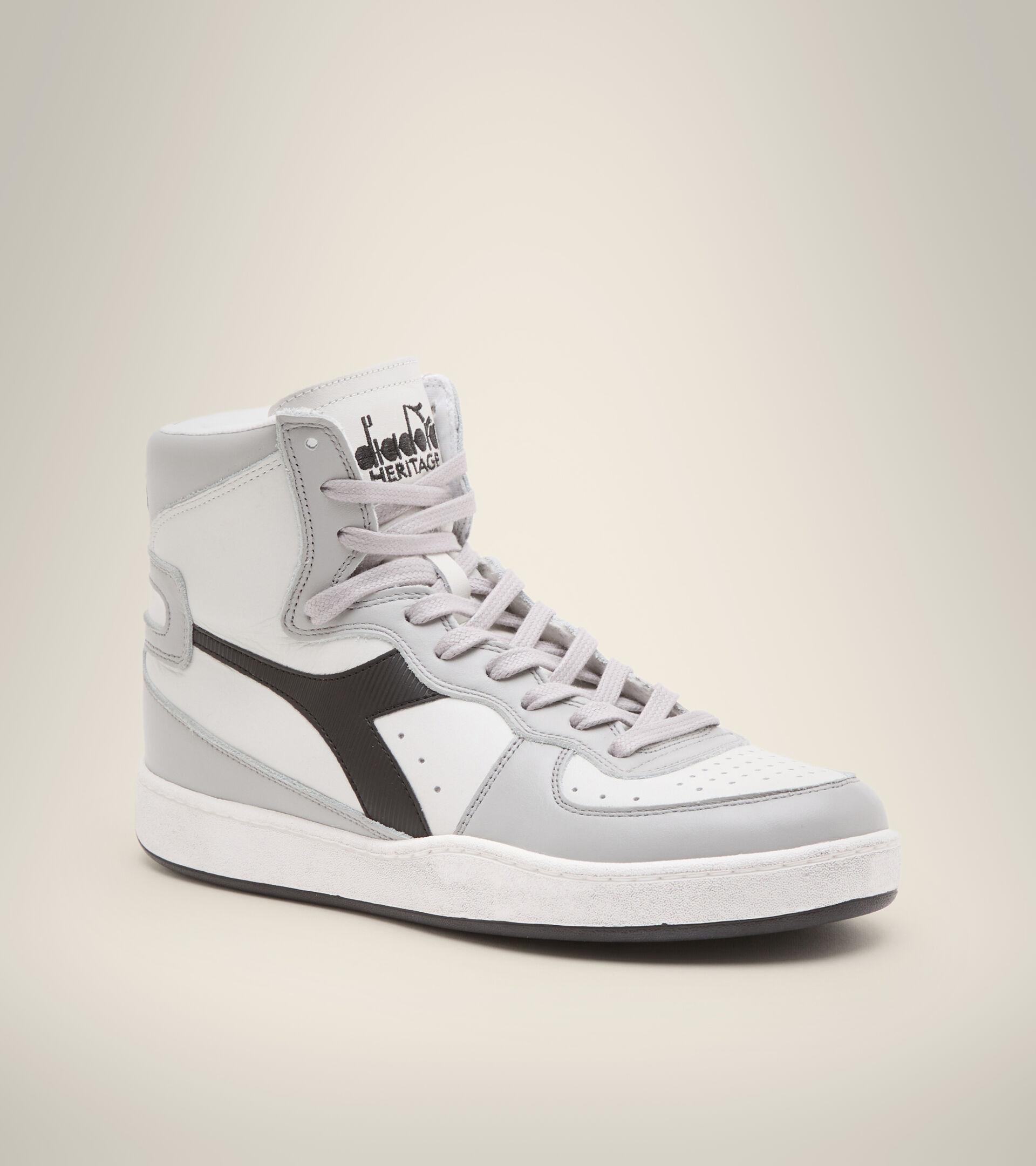 Footwear Heritage UNISEX MI BASKET USED BIANCO/GRIGIO GRATTACIELO/NERO Diadora