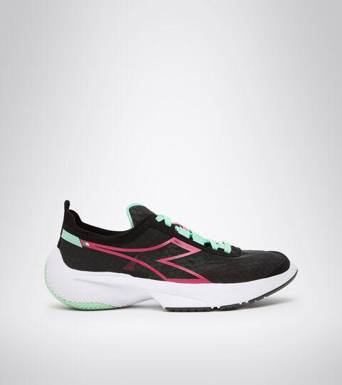 Running shoe - Women EQUIPE CORSA W BLACK/JAZZY/WHITE - Diadora