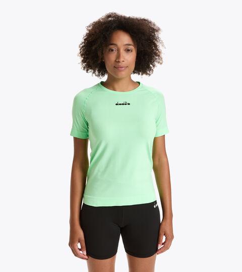 Made in Italy running T-shirt - Women L. SS SKIN FRIENDLY T-SHIRT GREEN ASH - Diadora