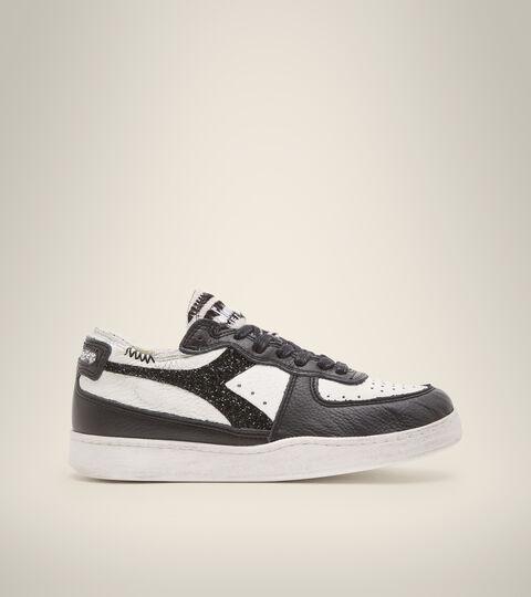 Footwear Heritage DONNA MI BASKET ROW CUT JUNGLE WN WHITE/BLACK Diadora