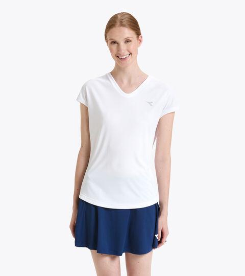 Camiseta de tenis - Mujer L. T-SHIRT TEAM BLANCO VIVO - Diadora