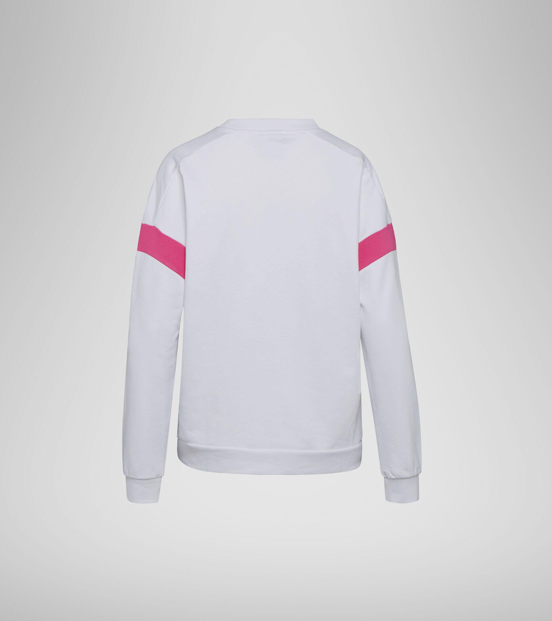 Apparel Sport DONNA L.SWEATSHIRT CREW SPOTLIGHT BIANCO OTTICO Diadora