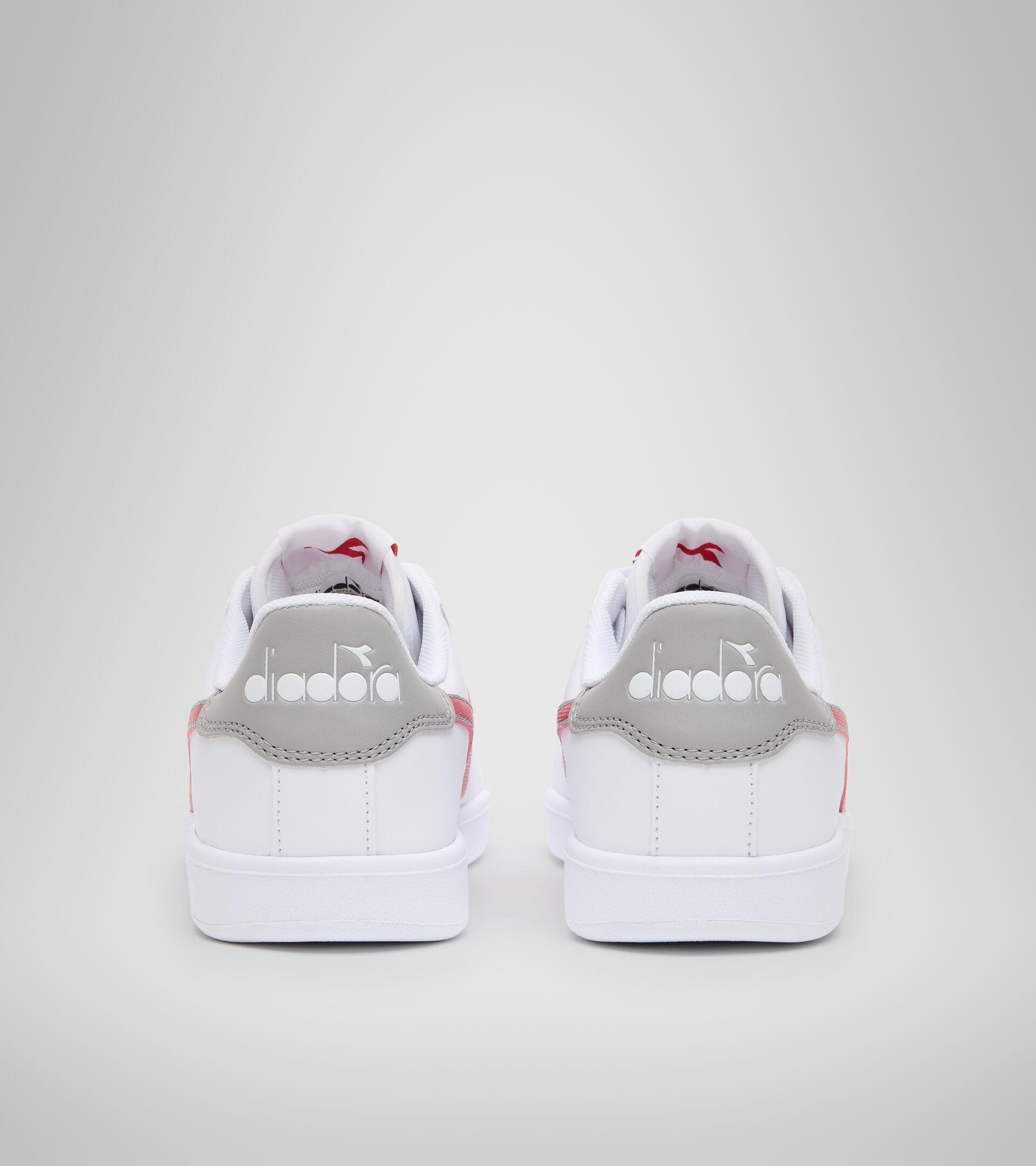Footwear Sport BAMBINO GAME P GS WHITE/TANGO RED Diadora