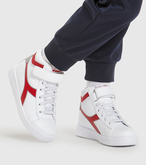 Chaussures de sport - Enfants 4-8 ans GAME P HIGH PS BIANCO/ROSSO TANGO - Diadora