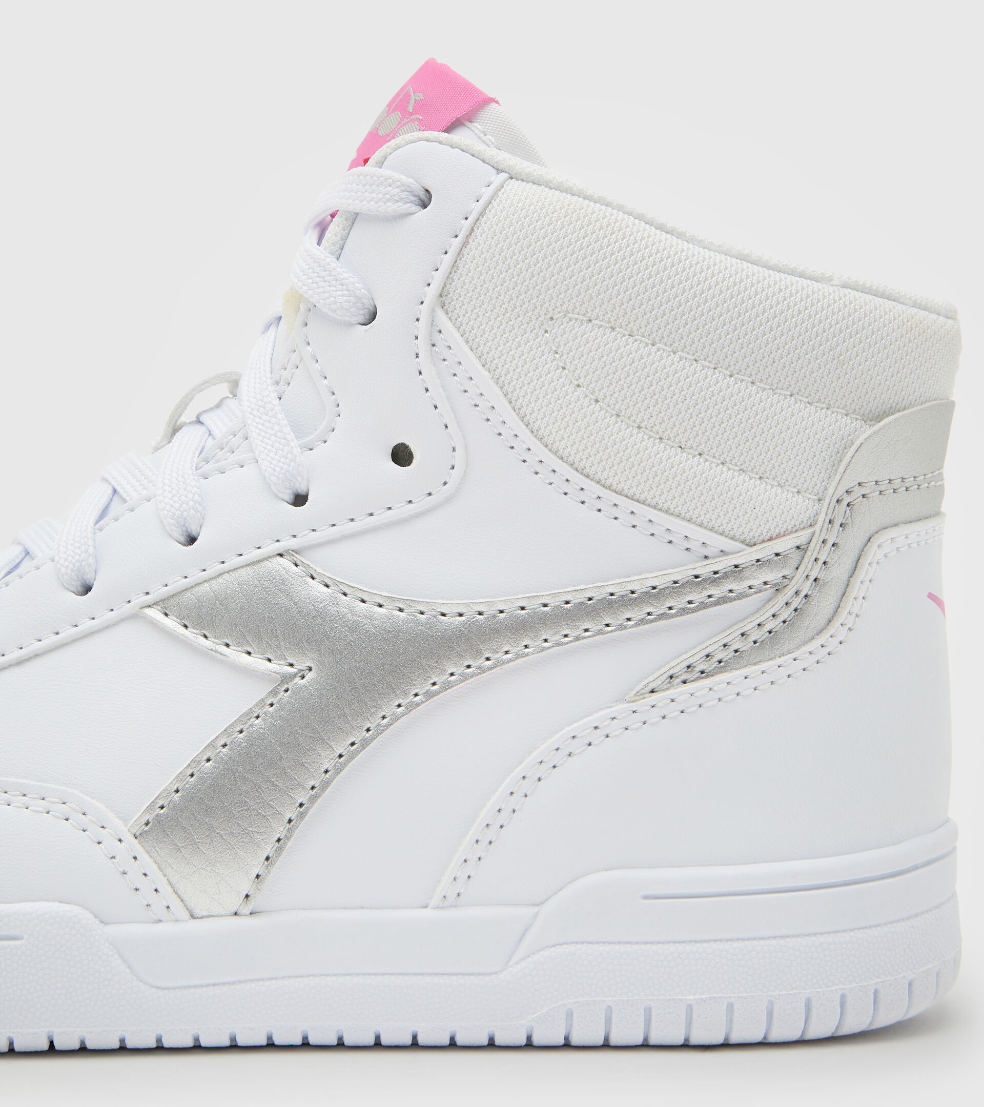 Sports shoes - Youth 8-16 years RAPTOR MID GS WHITE/SILVER - Diadora