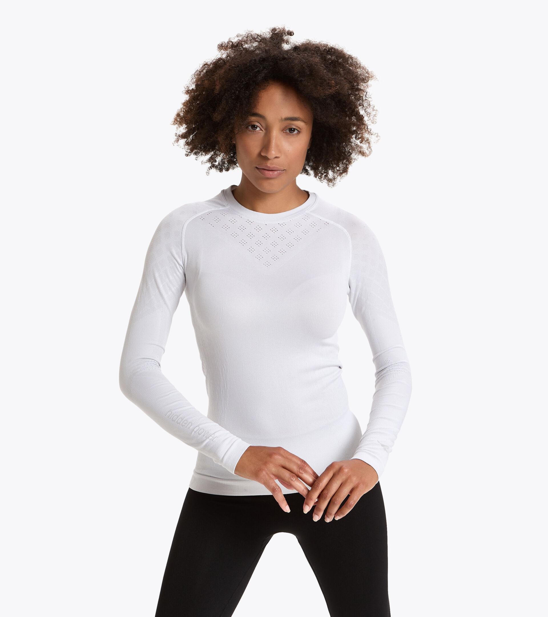 T-shirt da training a manica lunga - Donna L. LS T-SHIRT ACT BIANCO OTTICO - Diadora