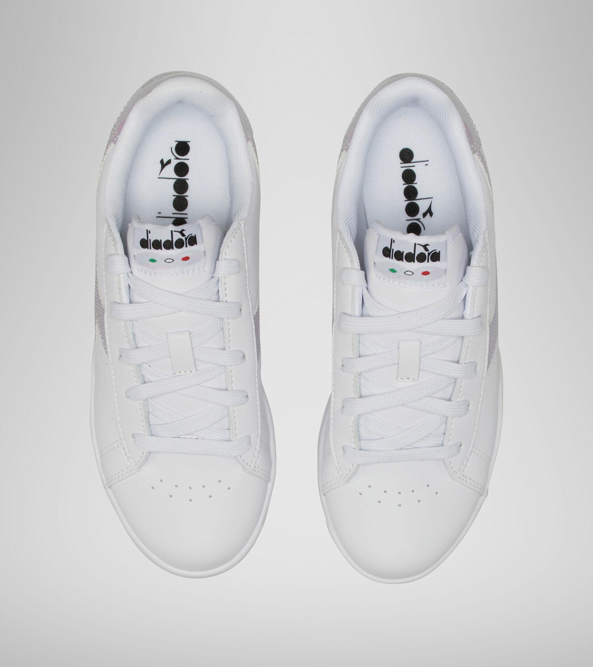 Footwear Sport BAMBINO GAME P GS GIRL BIANCO/VIOLA ORCHIDEA Diadora