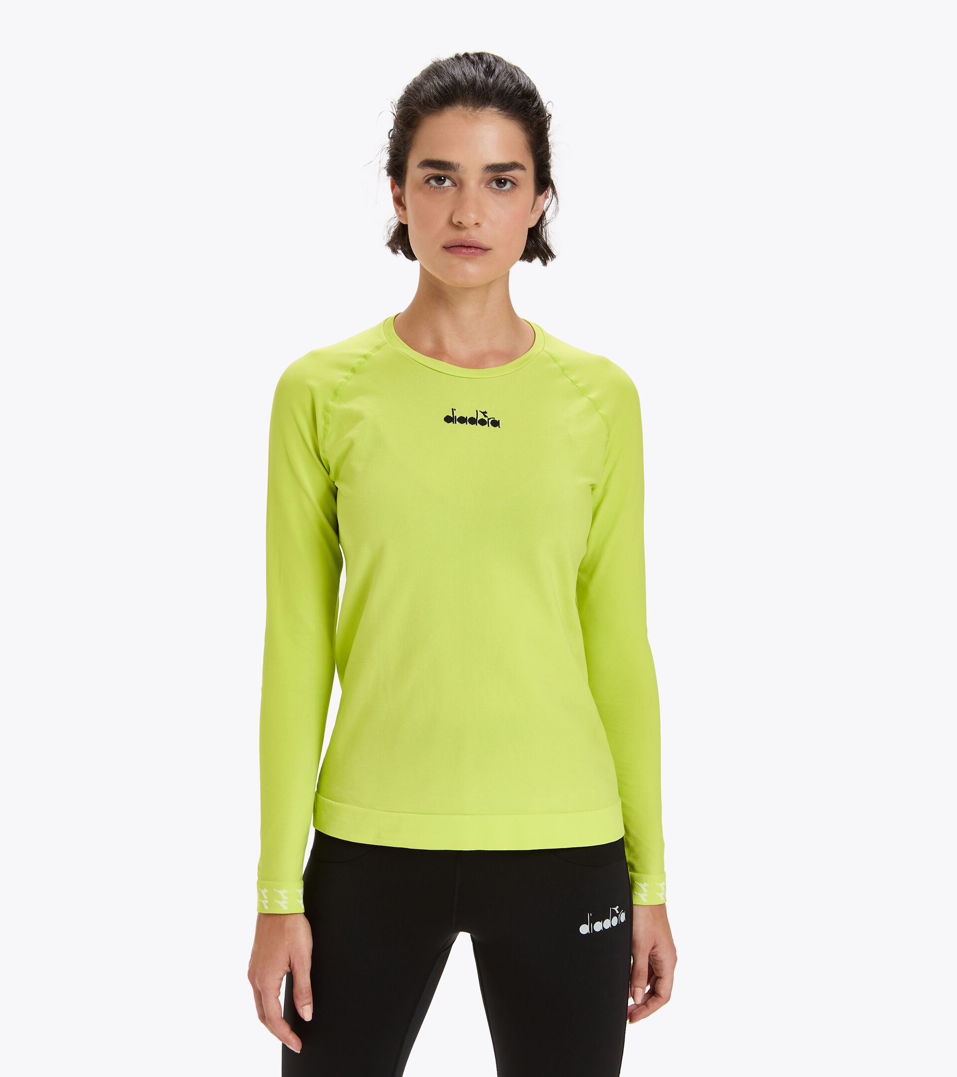 Camiseta para correr Made in Italy - Mujer L. LS SKIN FRIENDLY T-SHIRT MANANTIALES DE SULFURO - Diadora