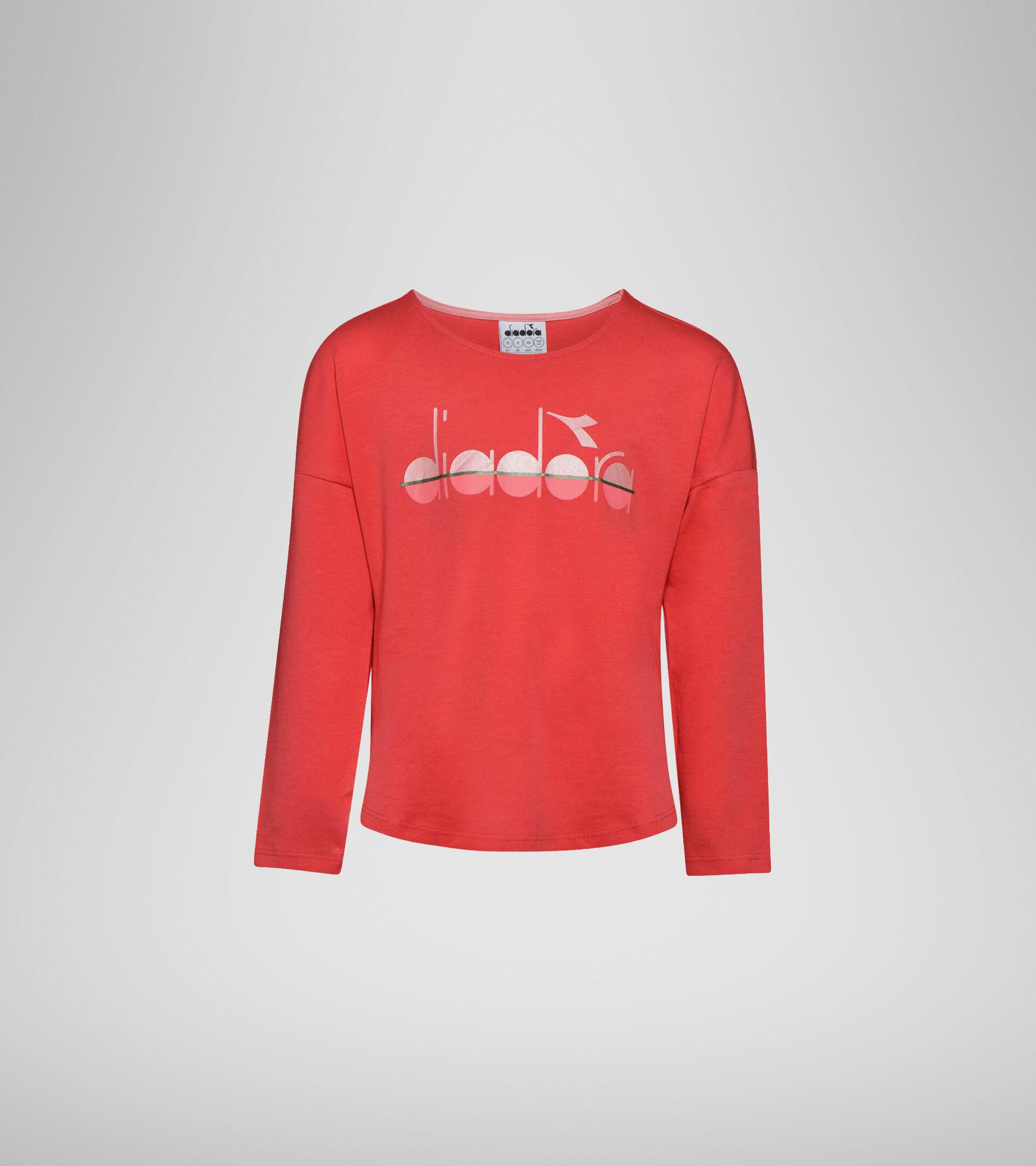 Long-sleeved T-shirt - Girls JG.LS T-SHIRT 5PALLE GERANIUM RED - Diadora