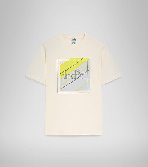 T-Shirt - Herren T-SHIRT SS 5PALLLE URBANITY MARSHMALLOW WEISS - Diadora