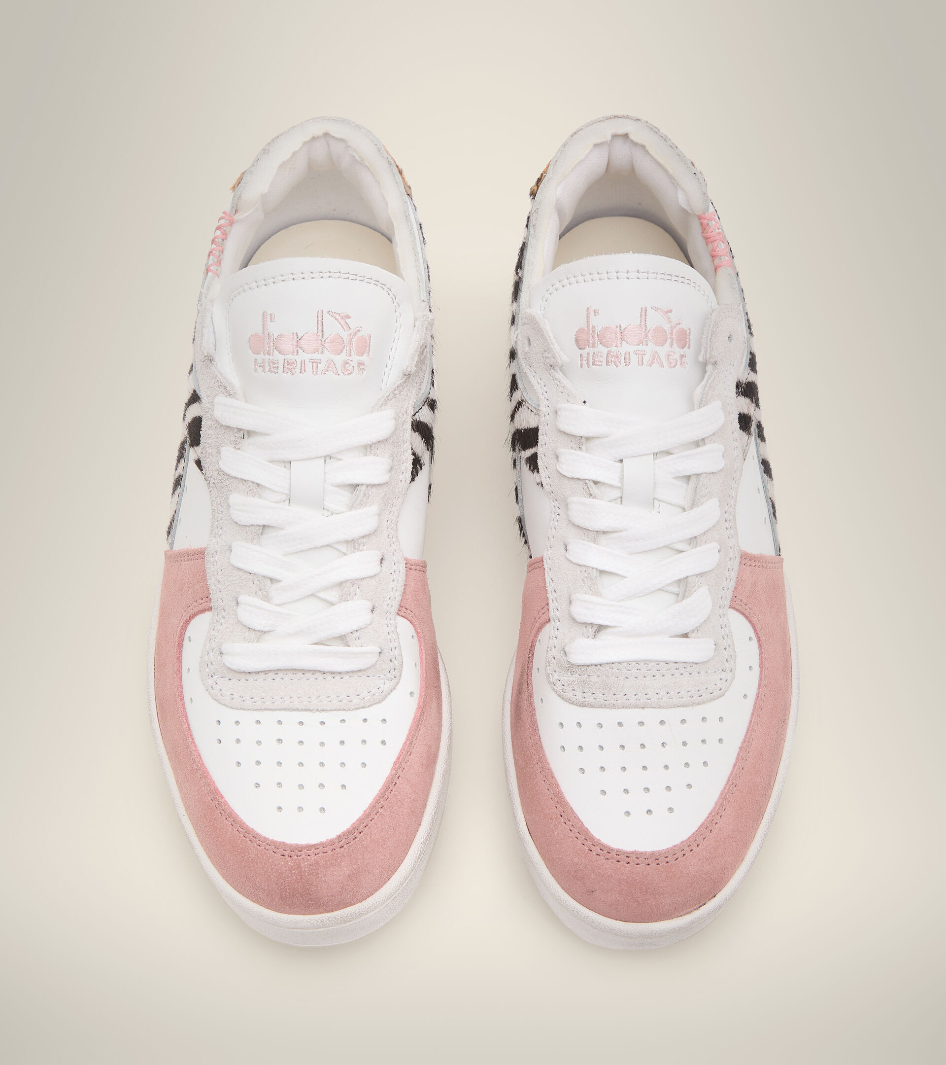 Footwear Heritage DONNA MI BASKET ROW CUT SAVANNAH WN BLANCO Diadora