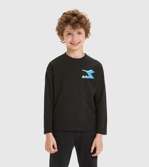 T-shirt - Kids JU.LS T-SHIRT CUBIC BLACK - Diadora