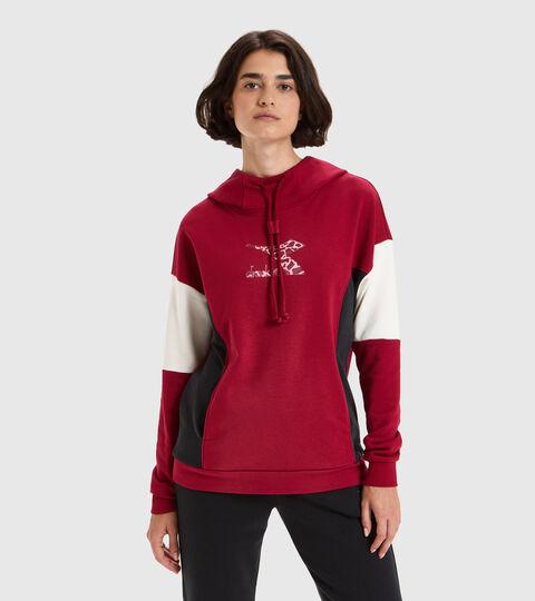 Sweat-shirt à capuche - Femme L.HOODIE LUSH RHUBARBE - Diadora