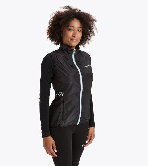 Running windproof gilet - Women L. VEST BLACK - Diadora