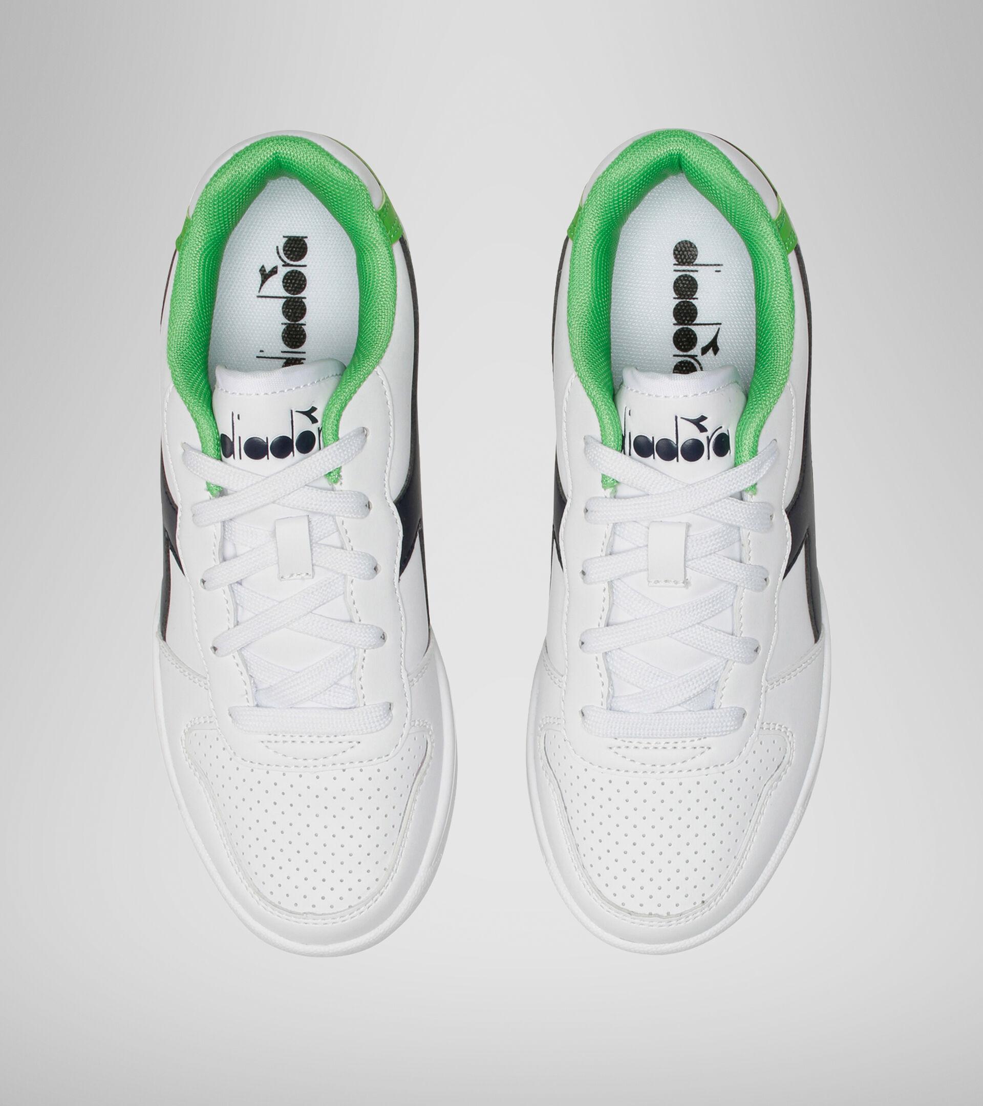 Footwear Sport BAMBINO PLAYGROUND GS WHITE/BLACK IRIS/CLASSIC GREEN Diadora