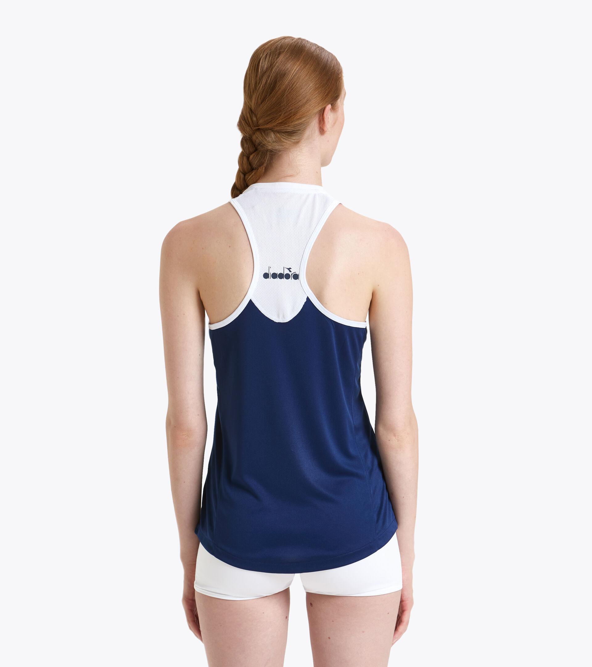 Tennis Tank Top - Women L. TANK COURT SALTIRE NAVY - Diadora