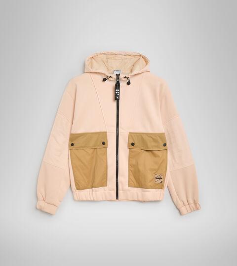 Apparel Sportswear DONNA L. TRACK JACKET URBANITY PASTEL ROSE TAN Diadora